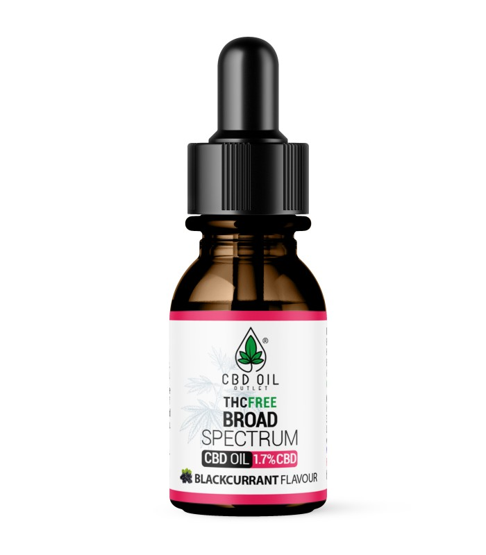 Broad Spectrum 1.7% CBD Oil - BLACKCURRANT Flavour - 10ml