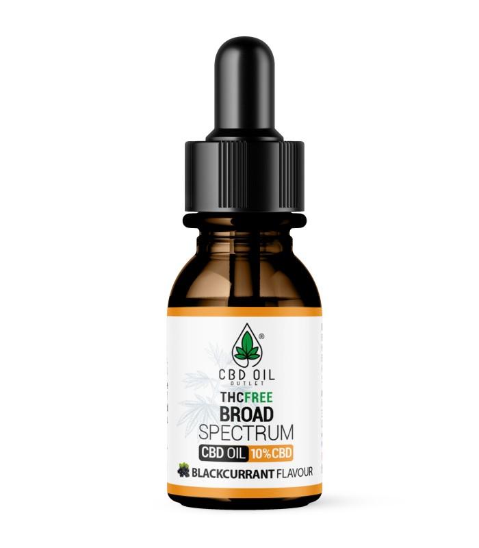 Broad Spectrum 10% CBD Oil - BLACKCURRANT Flavour - 10ml