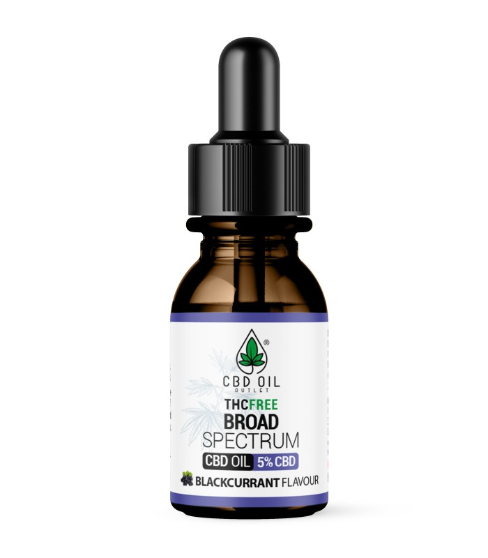 Broad Spectrum 5% CBD Oil - BLACKCURRANT Flavour - 10ml